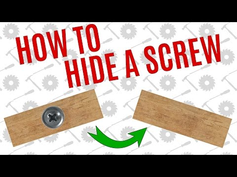 Simple Way To Hide A Screw - Average Joes Quick Tips
