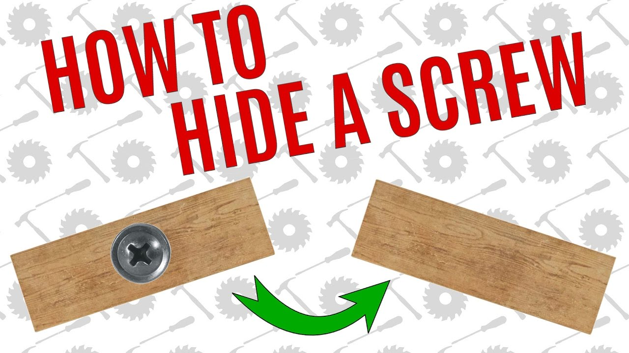 Simple Way To Hide A Screw Average Joes Quick Tips Youtube