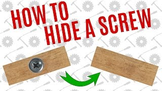 Simple Way To Hide A Screw - Average Joe's Quick Tips
