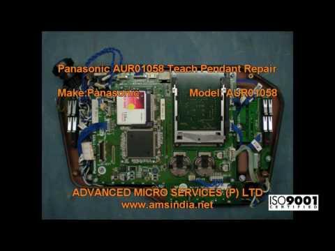 Panasonic AUR01058 Teach Pendant Repairs @ Advanced Micro Services Pvt.Ltd,Bangalore,India