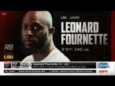 LEONARD FOURNETTE- 2017 NFL 4th Overall Pick (Jacksonville Jaguars)