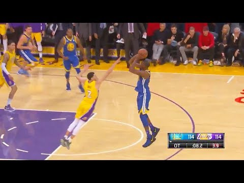 Kevin Durant Game Winner On Lonzo Ball In Front Of Kobe Bryant! Warriors Vs Lakers