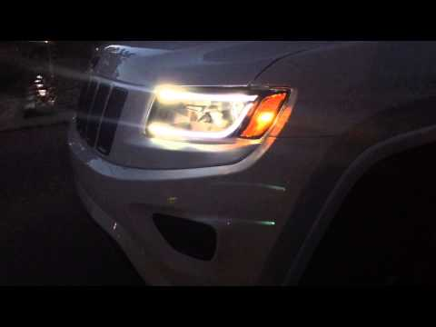 Eagle Eyes LED headlights on WK2 Jeep Grand Cherokee 2014 2015 Revotec