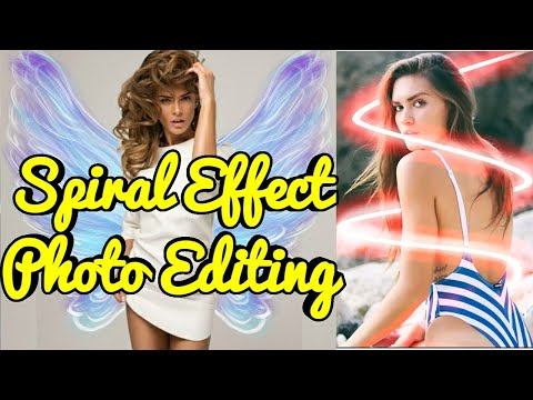 How To Make Neon Spiral Effect Photo | No Crop Neon Photo Editor | ERMODE