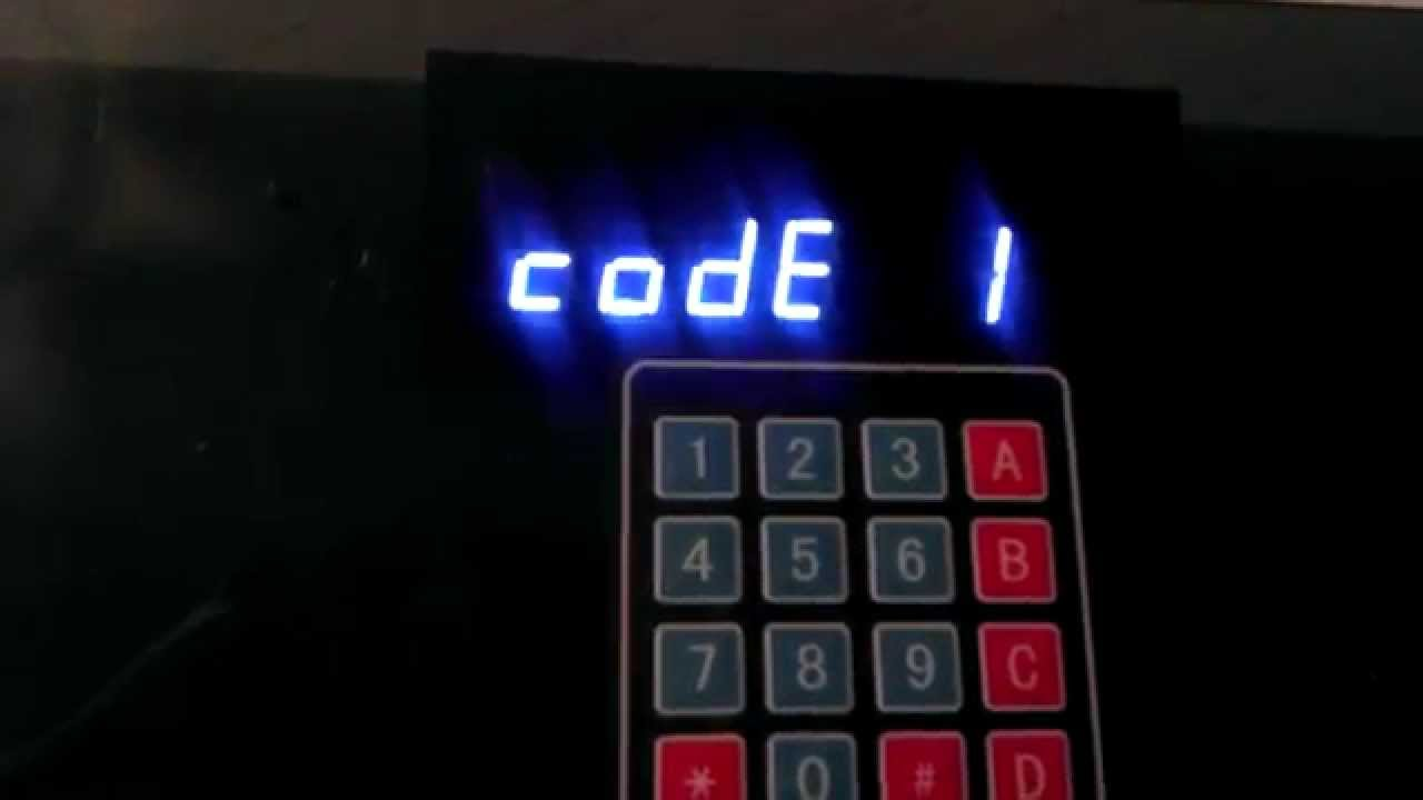 матричная клавиатура 4х4 arduino схема