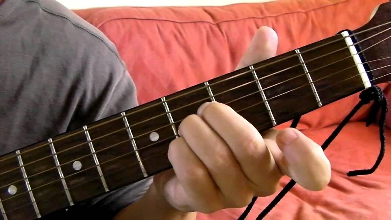B Major Guitar Chord Demonstration Youtube