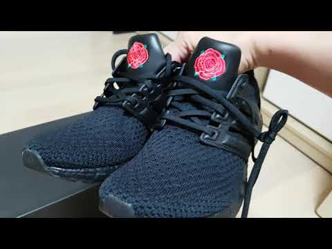 4k Ultra Boost X Manchester United Red Rose Unboxing And Tag Cutting 울트라부스트 맨유 레드 로즈 언박싱 탭커팅