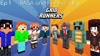 RASA and Friends Play Grid Runners: Episode 1 (New Noxcrew Minecraft Minigame!)
