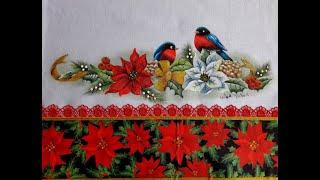 Gambar cover Barrado em Pano de Copa - Tema Natal - Beth Matteelli  pintura, costura e artesanato - DIY