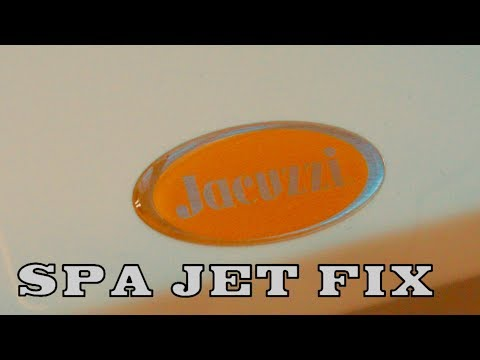 Jacuzzi Spa Jet Fix For Minor Problems