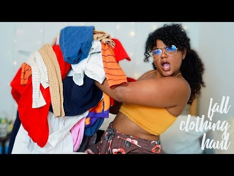 Fall Comfy Clothing Haul (thrifted, forever 21, boohoo)   Leah Allyannah