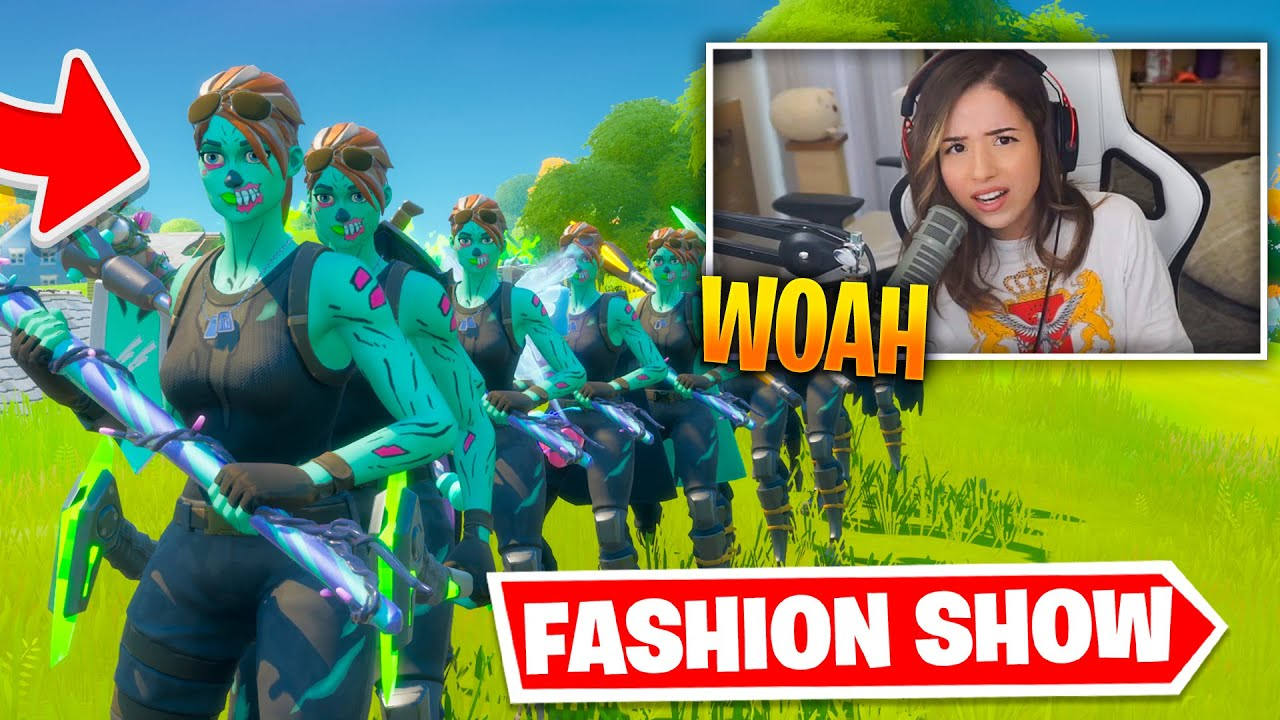 STREAM SNIPING Fortnite FASHION SHOWS and this happened! (SO FUNNY)