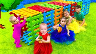 Five Kids New funny stories about Toys Children's Songs