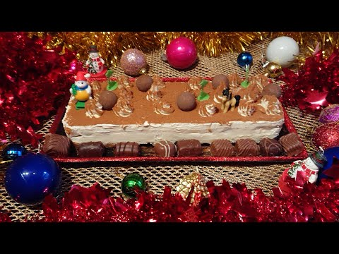 tiramisu-glacé-sans-œufs-pour-noël,-(dessert,-bûche-de-noël),facile,-frozen-tiramisu-for-christmas,