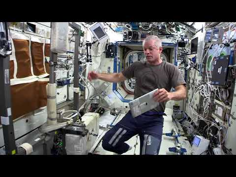 Astronaut Steve Swanson gives a tour of the International Space Station. Raw footage.