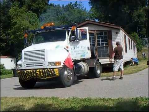 mobile home being moved youtube. Black Bedroom Furniture Sets. Home Design Ideas