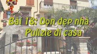 Học tiếng Ý - Bài 18: Don dẹp nhà - Hoc tieng Y ✫✫✫✫✫