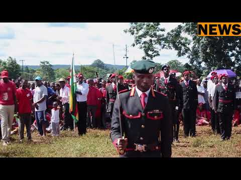 Vanguard Of MDC-T saluting  President Chamisa in Chinhoyi