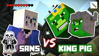 vuclip Undertale: Sans VS Angry Birds: King Pig Arena Fight - Minecraft Story Mode