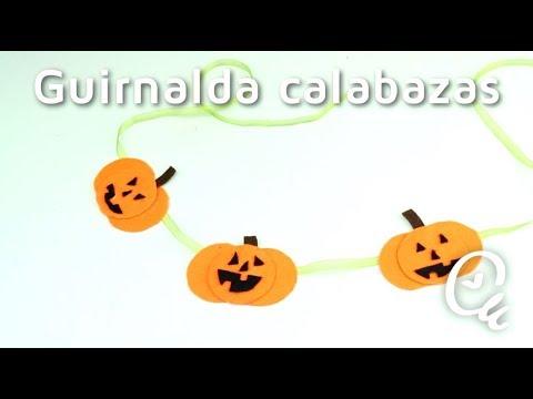 Cómo hacer una guirnalda de calabazas para Halloween | facilisimo ...