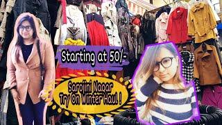 Sarojini Nagar Shopping Haul | Try-On Winter Haul 2018