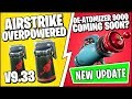 *NEW* FORTNITE Update - AIRSTRIKE ITEM GAMEPLAY (OVERPOWERED) & De-Atomizer 9000 (9.30 Patch Notes)