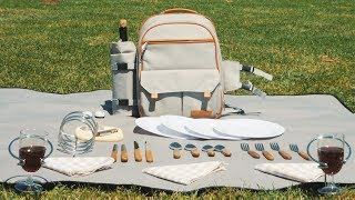 Picnic Backpack for 4 with Blanket and Cooler   The Ultimate Picnic Basket