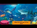 5 th class english, Unit - II , Sea animals poem