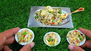 MINI FOOD - VEGETABLE FRIED RICE RECIPE - CHINESE RICE COOKING - MFS