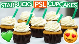 HOW TO MAKE STARBUCKS PSL CUPCAKES (Pumpkin Spice Latte) thumbnail