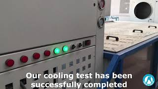 How to make a cooling test for a block ice machine?