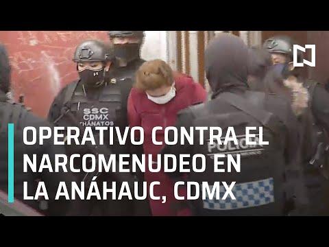 Operativo contra narcomenudeo en la colonia Anáhuac, alcaldí