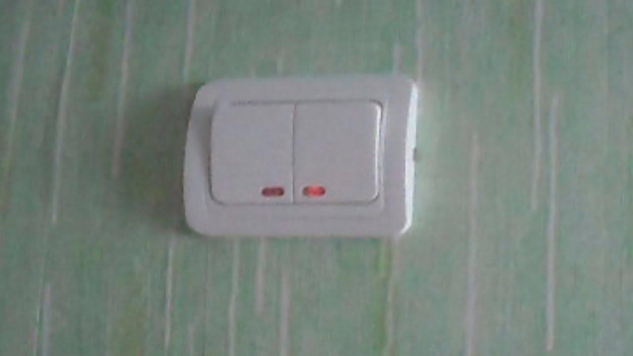 схема светодиодный индикатор в выключателе