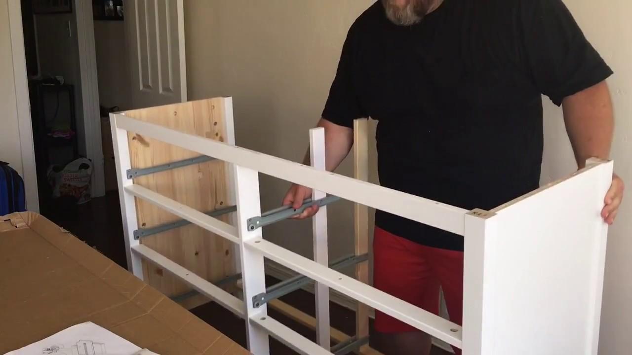 Ikea Furniture Quick Build Hemnes Dresser Youtube
