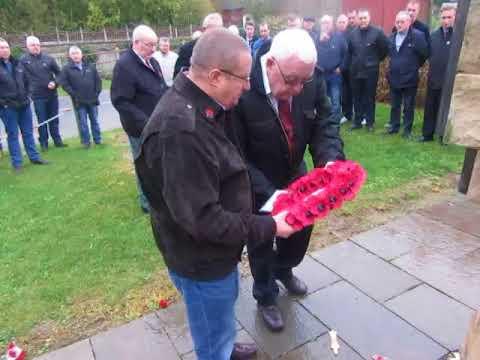 Contalmaison 2017....Bathgate and Armadale Hearts Supporters Club Remembrance Service..