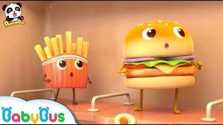 O Encontro do Hambúguer e a Batata Frita| Música Infantil | BabyBus Português