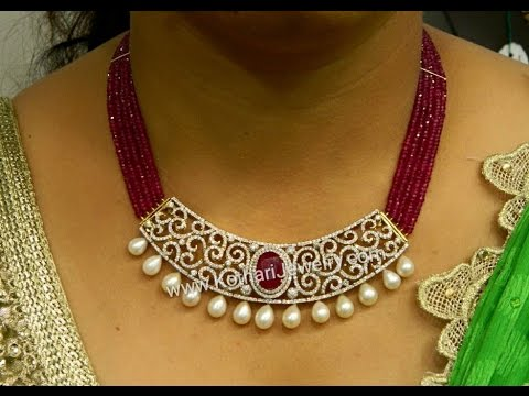 Latest Indian Ruby Beads Diamond Emerald Jewellery Designs!!!!!