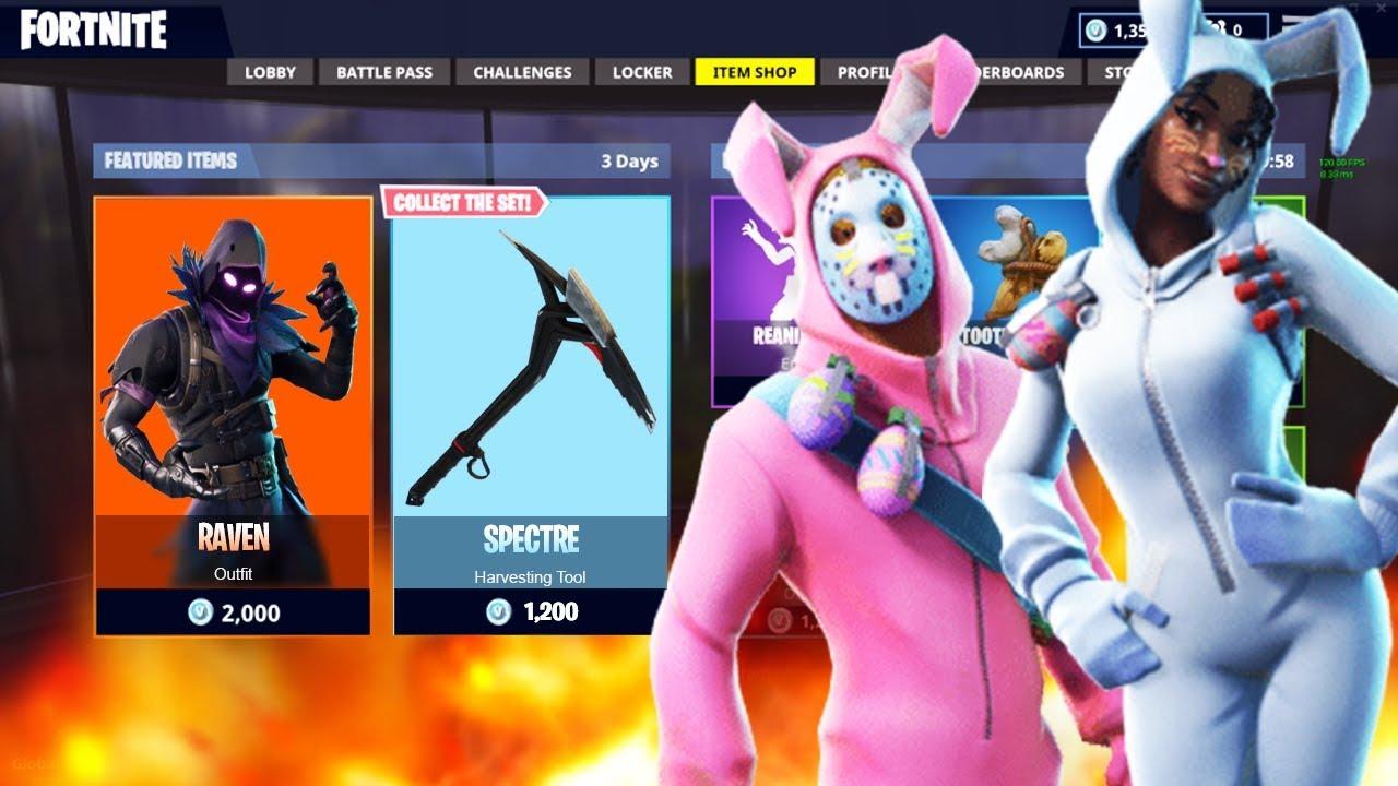 New rabbit raider and bunny brawler skins showcase new raven midnight ops skins fortnite - Fortnite bunny brawler ...