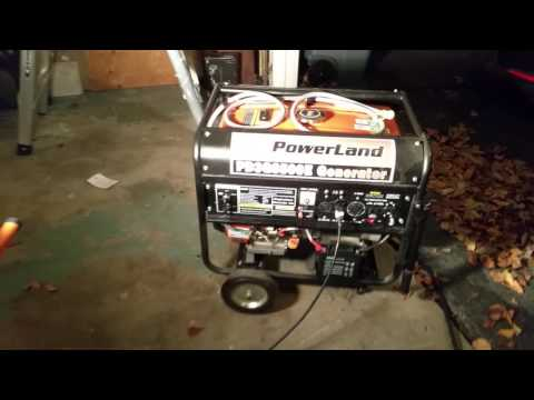 Powerland PD3G8500E Portable Tri-Fuel Propane Natural Gas Generator 8500W 16HP - Running Under Load