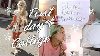 First day of college classes online vlog // 2018-2019 ⭐