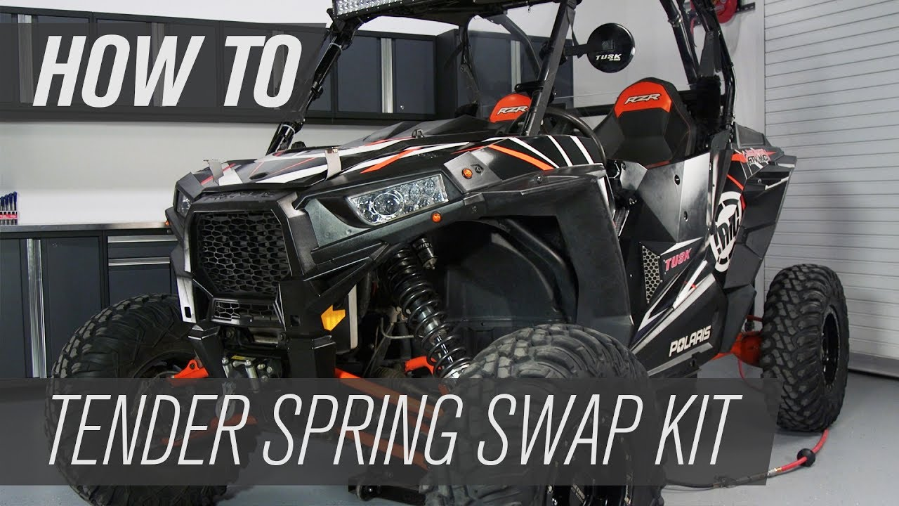 How To Install Polaris Tender Spring Swap Kit Rzr Xp
