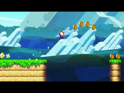 New Super Mario Bros. U: Coin Collection Challenges - Triple-Jump for Coins (Gold Medal)