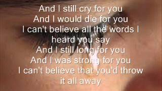Repeat youtube video if i cry a thousand tears lyrics