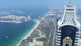 Amazing Dubai 180° View from the 97 top floor from Princess Tower Dubai Marina