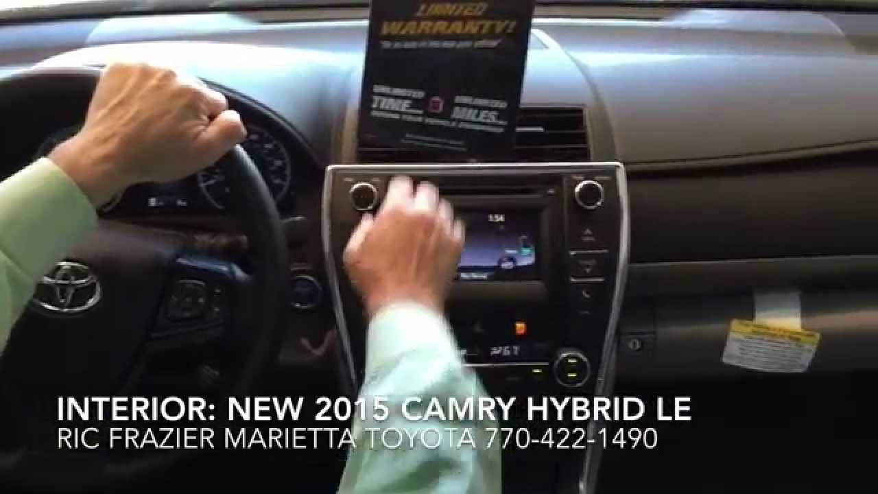 New 2015 Toyota Camry Hybrid LE Interior And Exterior Features By Ric  Frazier   YouTube