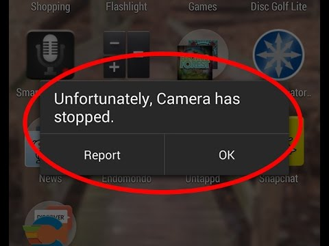 How to fix Unfortunately Camera has stopped working in Android|Tablet
