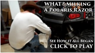 Drinking Milk from a Polaris ATV - Las Vegas ATV tours with Veqas Off Road Tours