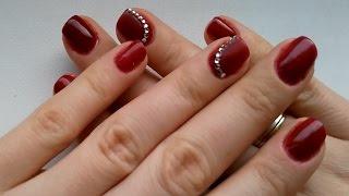 Дизайн ногтей стразы под гель лак