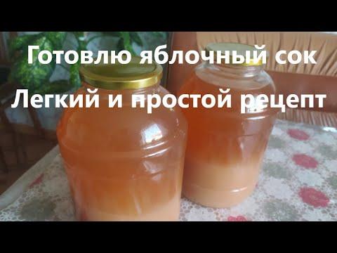 Яблочный сок с мякотью на зиму в домашних условиях без соковыжималки рецепт