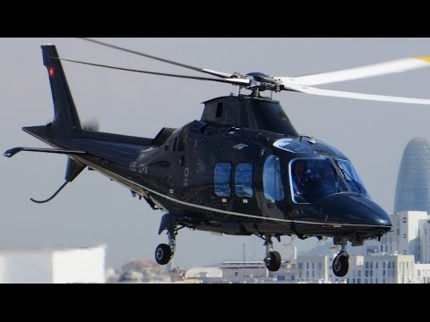 AgustaWestland AW109SP GrandNew Startup, Taxi and Takeoff